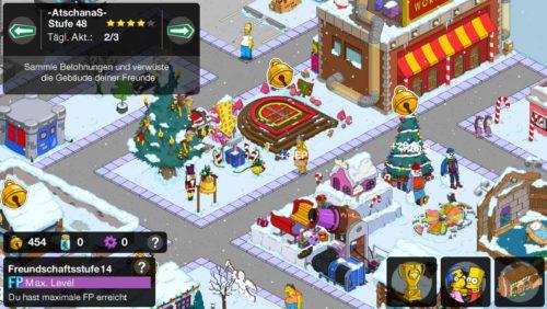 Bei Freunden in Simpsons Springfield Elfglocken einsammeln