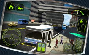 Öffne den Fahrgästen die Türen und fahre diie entsprechende Busroute in Bus Driver 3D - (c) Tapinator