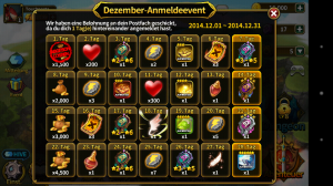 Elune Saga - Screenshot daily bonus