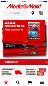 Screenshot der Media Markt App