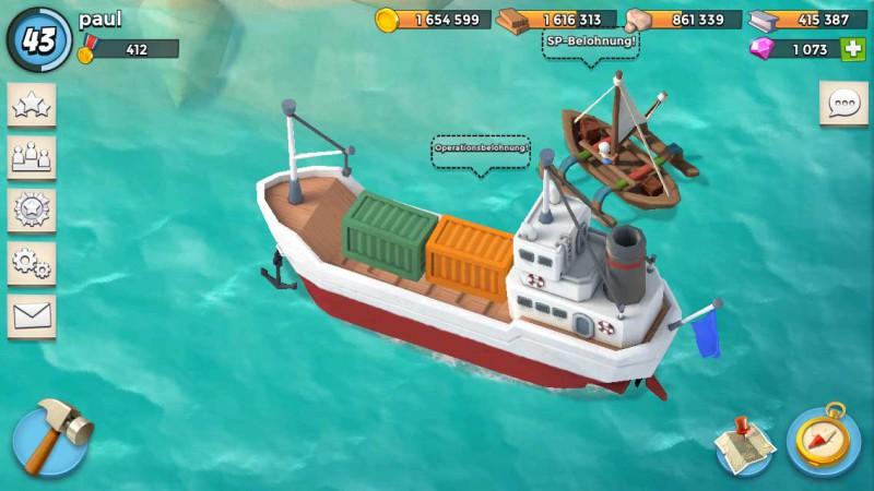 Neue Boot Grafik für die Operationsbelohnung