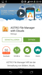 Screenshot Sony Xperia M - Astro File Manager App download