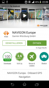 Screenshot Sony Xperia M - Navigon App download