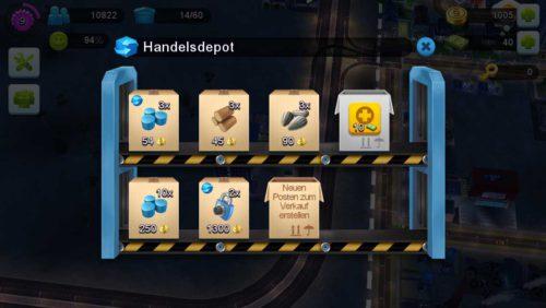 Damit eure Waren in SimCity BuildIt auch bei anderen Spielern auftauchen, muss Werbung für diese gemacht werden