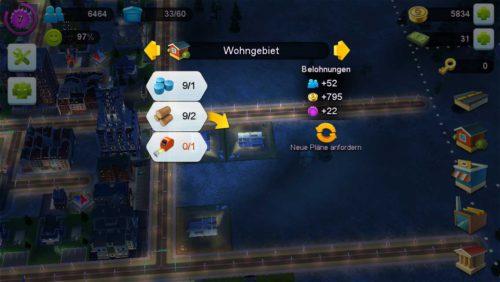 Um ein Wohngebiet in SimCity BuildIt zu erweitern, werden unterschiedlichste Materialien benötigt