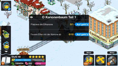 Die Storyline O Kanonenbaum im Winter 2014 Teil 2 Event