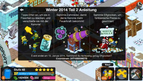 Simpsons Springfield Winter 2014 Teil 2 So funktioniert es - (c) EA Mobile
