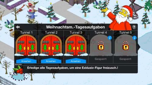 Weihnachtsmann Tagesaufgaben in Simpsons Springfield