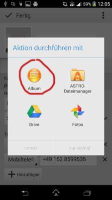 Wenn du ein BIld auswählen willst, nutzte einfach eine andere App. Bei einem Sony Smartphone mit Android 4 ist die Album App geeignet. Dann erscheint keine Meldung bzgl. einer DRM-Beschränkung