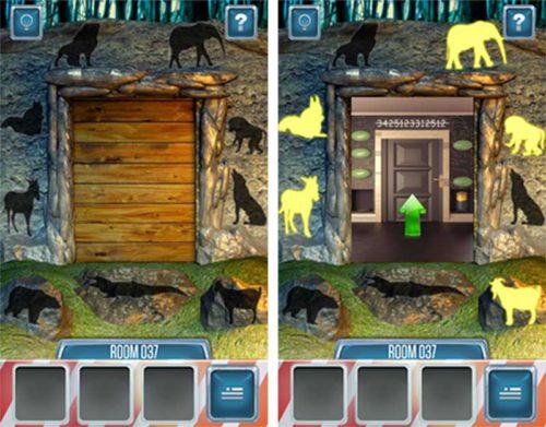 100 Doors Return Level 37 Lösung