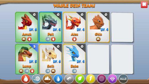 Stelle dein Dragon Mania Legends aus den besten Drachen zusammen, um den Kampf zu gewinnen