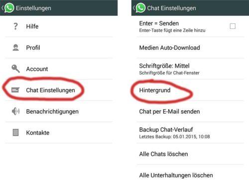 Hintergrund des WhatsApp Messenger anpassen
