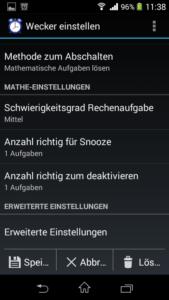 Wecker Xtreme Screenshot Wecker Einstellungen