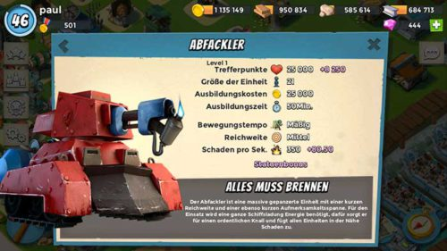 Abfackler: Neue Einheit in Boom Beach - (c) Supercell