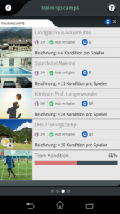 Goal One DFB Fußball Manager - Screenshot Training