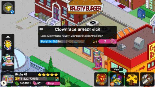 Simpsons Springfield Superhelden Storyline Clownface erhebt sich