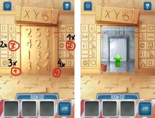 100 Doors Return Level 32 Lösung
