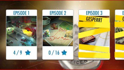 Du kannst in der App Agent Alice ganz einfach die Episoden wechseln, um auch bei älteren Sterne zu sammeln