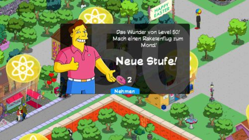 Alles rund um Level 50 in Simpsons Springfield