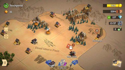 Befreie Dörfer auf der Karte und schalte neue Gegenden durch ein Upgrade des Pony Express frei