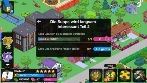 Mit Start von Akt 2 beginnt die Storyline Die Supper wird langsam interessant beim Simpsons Springfield Terwilligers Event