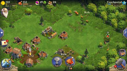 At The Beginning in the App Dominions you-have deer, foxes, rabbits and more succumbed to reach Gold and Food