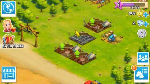 Deine Felder solltest du gleich auf Stufe 7 upgraden, um damit bei Horse Haven Mais anbauen zu können