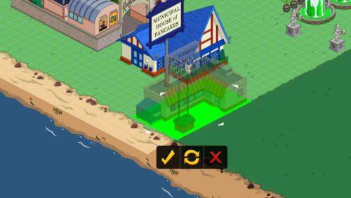 In Level 51 von Simpsons Springfield muss das Familienzentrum errichtet werden
