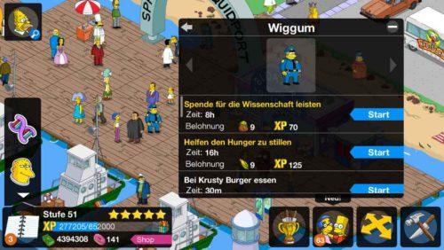Du kannst Personen in Simpsons Springfield Aufgaben geben, sodass diese die Eventwährung sammeln können