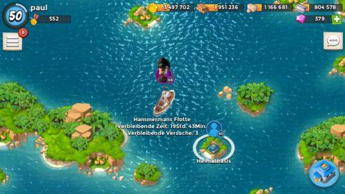Boom Beach: Hammermans Flotte taucht vor deiner Insel auf - Insgesamt hast du drei Versuche Lt Hammerman abzuwehren