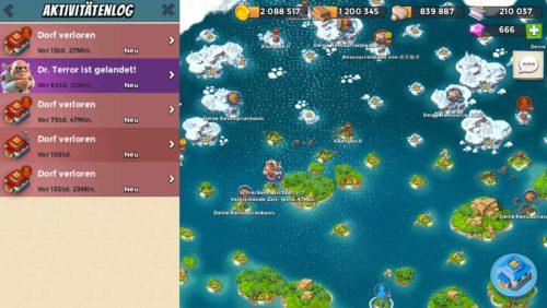 Mit dem Boom Beach Update hat sich das Aktivitätslog deutlich verändert