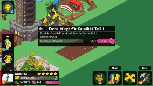 Die Storyline von Level 52 beginnt mi Dora bürgt für Qualität