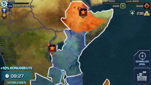 Empires & Allies Angriff auf vorgefertigte Basen oder durch ein schnelles Spiel auf andere Spieler der App - Bildquelle: Ingame / Zynga
