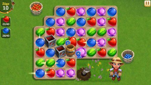 FarmVille Erntetausch Fass und Kisten sollten sinnvoll genutzt werden, um schnell das Level abzuschließen - (c) Zynga