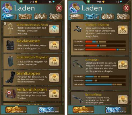 Im Laden von Lara Croft Relic Run kannst du die Ausrüstung verbessern
