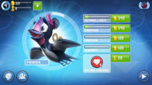In Oddwings Escape musst du deine Vögel stets upgraden, um eine größere Weite zu erreichen