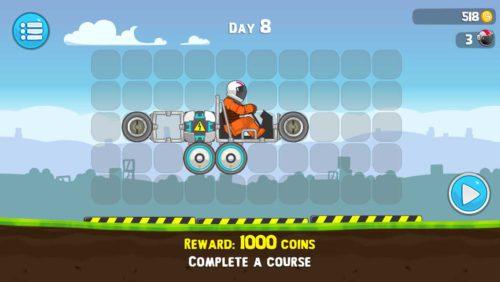 Täglich gibt es in der App RoverCraft Racing eine Challenge. Durch das Lösen kassierst du 1000 Münzen