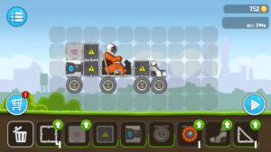 Bevor es in RoverCraft Racing auf die Piste geht, muss der Rover, also das Auto zusammengesetzt werden