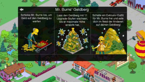 Simpsons Springfield Mr Burns Geldberg: So funktioniert es - Bildquelle: Ingame (Simpsons Tapped Out)