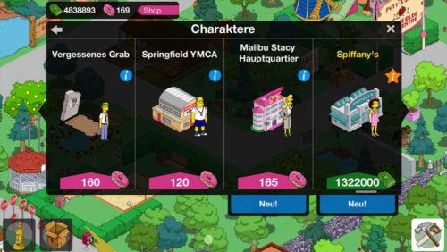 Simpsons Springfield: Neue Gebäude in Level 53