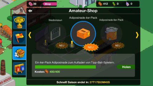 Beim Simpsons Springfield Tipp-Ball Event kannst du mit Amateur-Dollar zahlreiche weitere preise freischalten