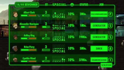 Als wir Fallout Shelter zum ersten mal gespielt haben, waren unsere Bewohner verstrahlt und hatten wenig Lebensenergie - Mittels Stimpaks und Radaway kannst du diese heilen