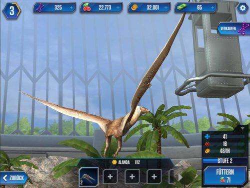 Füttere deine Dinosaurier gleichmäßig in Alle 6 Stunden gibt es ein Gratis Kartenpaket bei Jurassic World