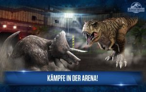 Kämpfe in der Jurassic Park App - (c) Ludia