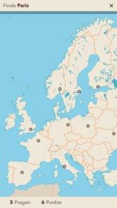 Screenshot zur App Unsere Welt: Hier sollst du Paris finden - (c) Trilliarden