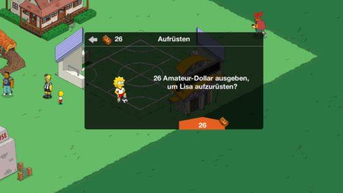 Die Amateur-Dollar solltest du beim Simpsons Springfield Tipp-Ball Event dafür einsetzen, deine Spieler aufzurüsten