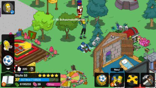 Simpsons Springfield Tipp Ball Schaumstoffhände sammeln durch Fans antippen