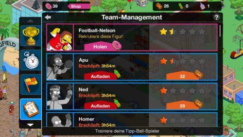 Simpsons Springfield Tipp Ball: Auf das Team Management kommt es an