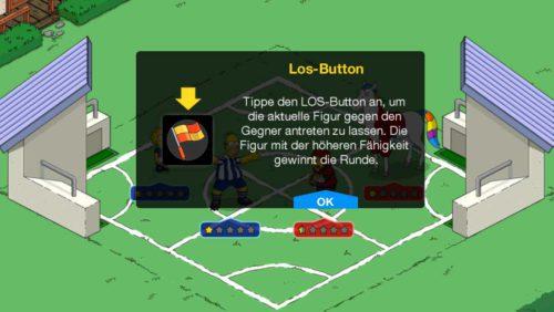 Nachdem du dein Team in Simpsons Springfield Tipp-Ball ausgewählt hast, startet das Duell - 4 vs 4