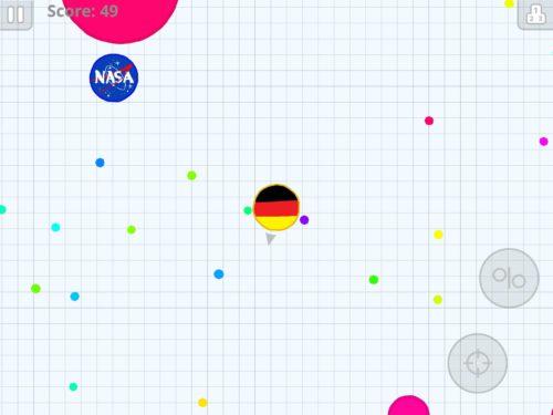 Agar.io Deutschland Flagge als Design für die Zelle
